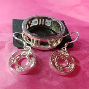 2 Piece .925 Sterling Roman Numeral Set